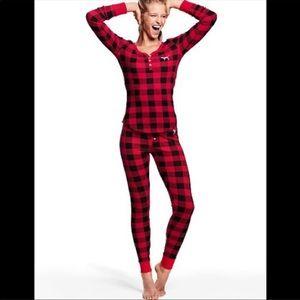 Victoria's Secret PINK plaid pajama set xs